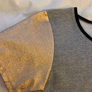BCBGeneration Tops - BCBG top - metallic contrast sleeve